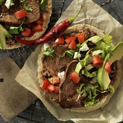 Beef Steak & Black Bean Soft Tacos